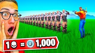 1 ELIMINATION = 1,000 *free* VBucks With My Friends (Fortnite Battle Royale)