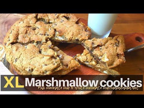 XL Marshmallow cookies. 홈메이드 XL 마시멜로쿠키.