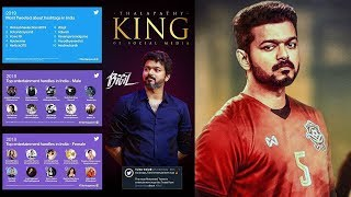 Vijay Trendsetter of Indian Cinema -Twitter Official Announcement | Bigil Impacts National Level