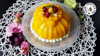 Mango Tres Leches Cake Recipe  Three Milk Cake Recipe By Wife In The Kitchen  Father&#39s Day Special