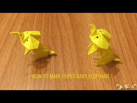 (DIY) - How to Make a Paper Baby Elephant - Origami Folds