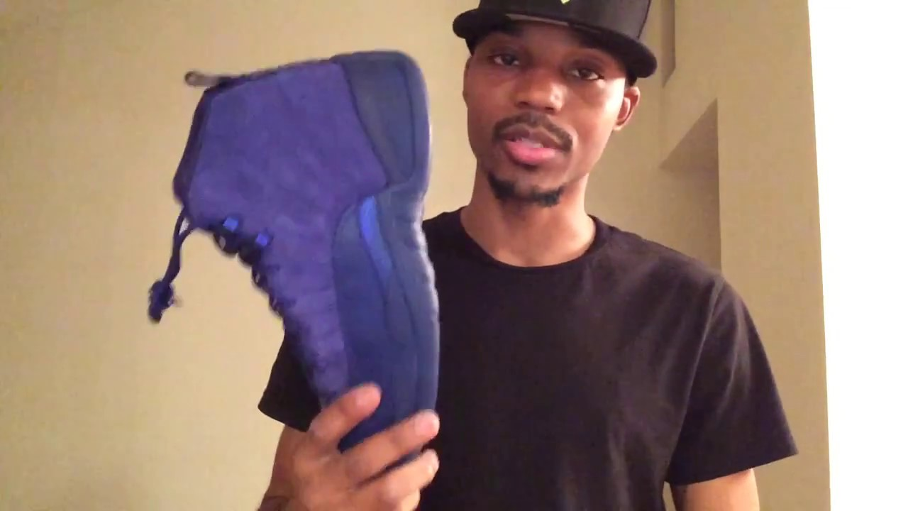 7fdaef606866 Air Jordan 12 retro Blue suede review!!! - YouTube