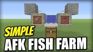 Minecraft Bedrock Afk Fish Farm Automatic Tutorial Ps4 Mcpe Xbox Windows Switch Youtube