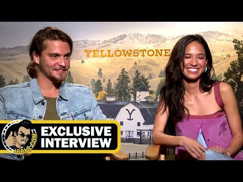 Luke Grimes and Kelsey Asbille YELLOWSTONE ! JoBlo.com Exclusive