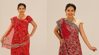 How To Wear Saree In Different Styles to Look Slim and Tall  - Gujarati Style Saree Draping