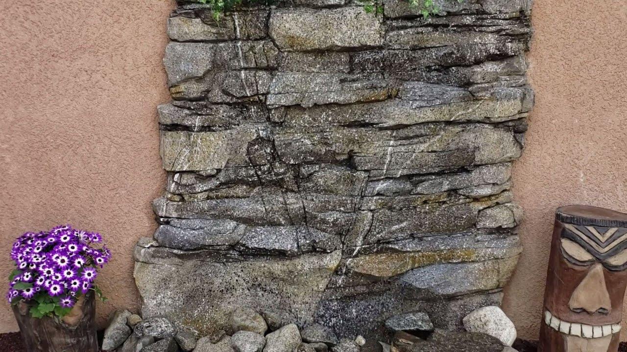 Como Hacer Un Muro Llorón Con Cemento En Figura De Piedra Granito How To Build Small Waterfall Youtube