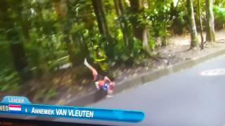 Rio 2016 cycling crash Annemiek Van Vleuten