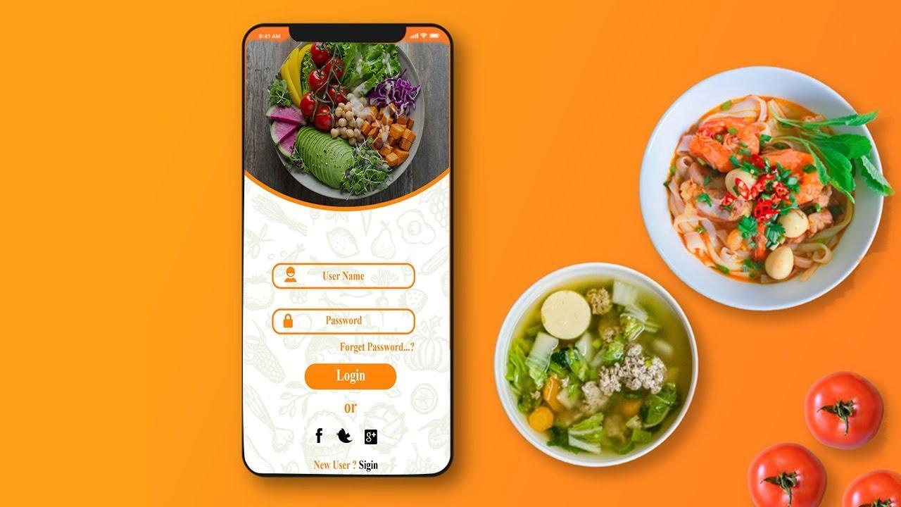 #1 Mobile App Design in Photoshop cc – Login page Design