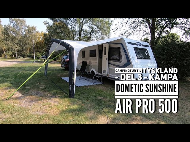 Campingtur til Tyskland - del 3 - Kampa Dometic Sunshine AIR Pro 500 (2020 model)