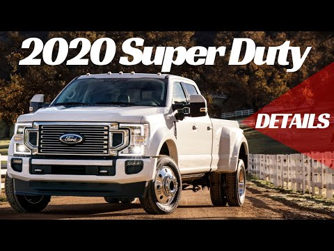What's new in the 2020 Ford F-Series Super Duty?