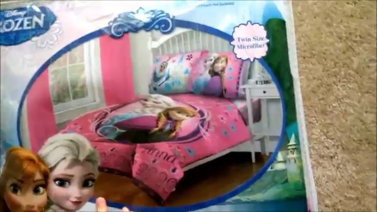 disney frozen twin comforter bedding set review toddler cute 1st reaction