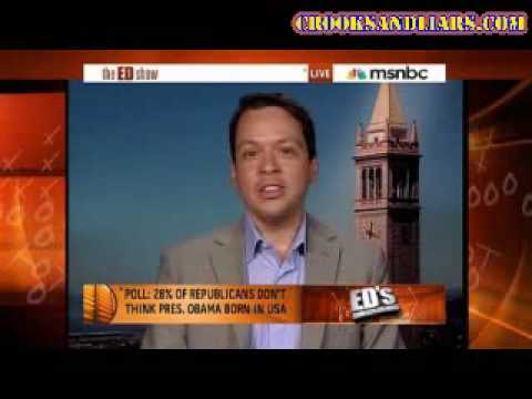 Markos Moulitsas Talks About DailyKOS Birther Poll with Ed Schultz