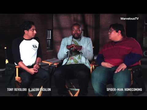 Tony Revolori  & Jacob Batalon on the set of Spiderman: Homecoming