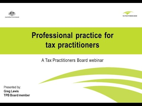 Professional practice for tax practitioners