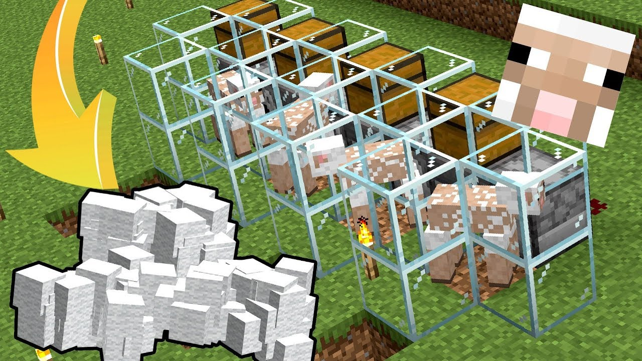 How To Build A 1 14 3 Automatic Wool Farm In Minecraft Youtube
