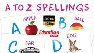 A For Apple B For Ball C For Cat  - Preschool Learning Videos - Learn ABCD with Education Adda