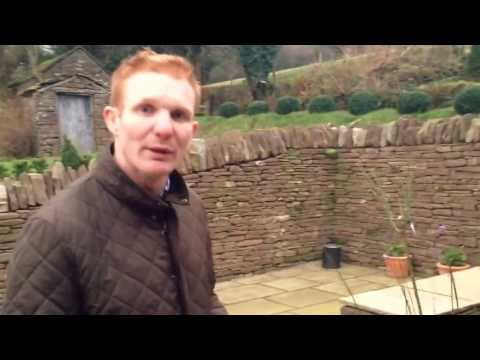 New topiary gardens at Upper House Farm, Craswall