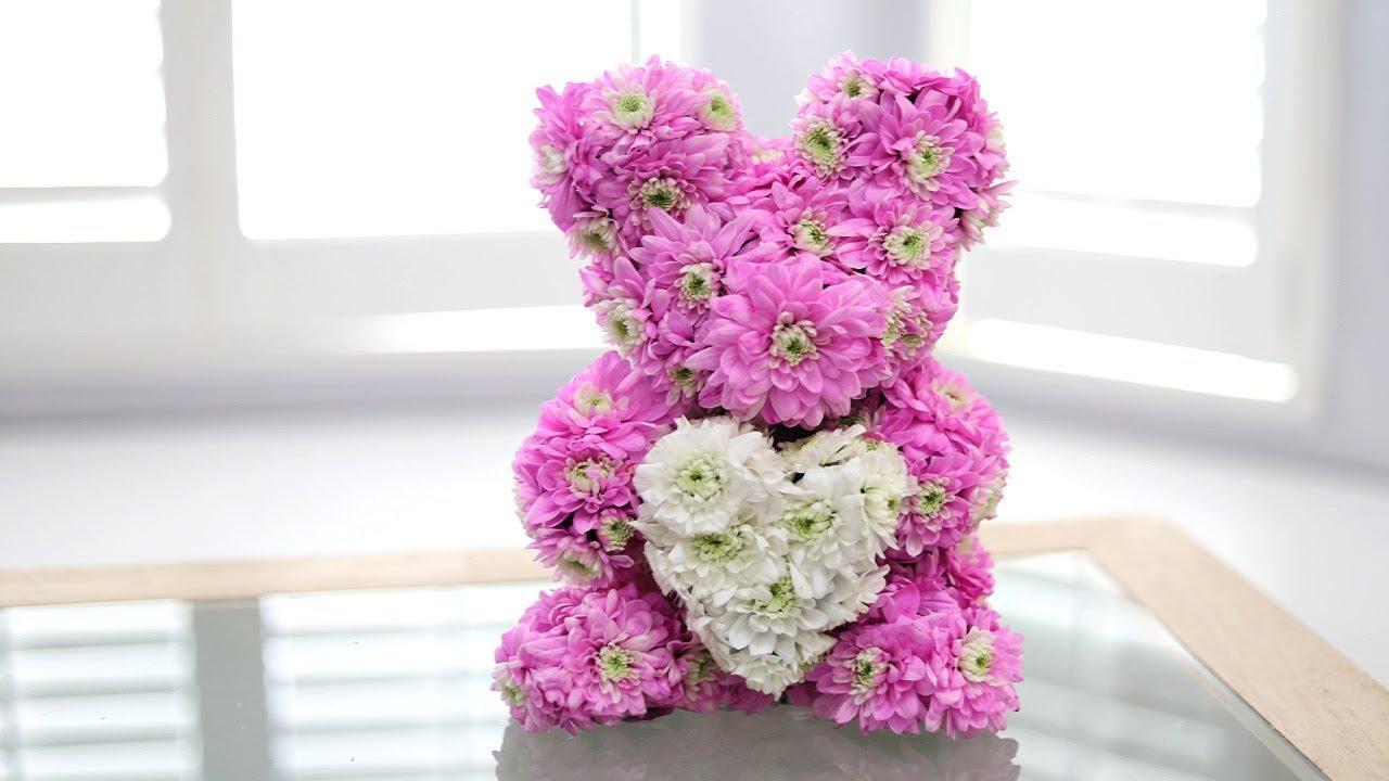 DIY FLOWER BEAR -REAL FLOWERS!
