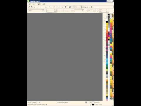 How to import color palet corel draw