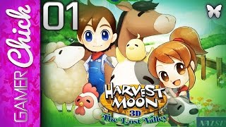 ❋ Harvest Moon: The Lost Valley-Gameplay/Walkthrough [Part 1 Path To The Spring] (3DS) w/ GamerChick
