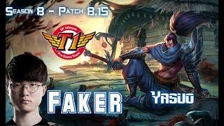 SKT T1 Faker YASUO vs LEBLANC Mid - Patch 8.15 KR Ranked
