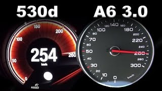 2017 Audi A6 3.0 TDI vs. BMW 530d G30 - Acceleration Sound 0-250 kmh | APEX