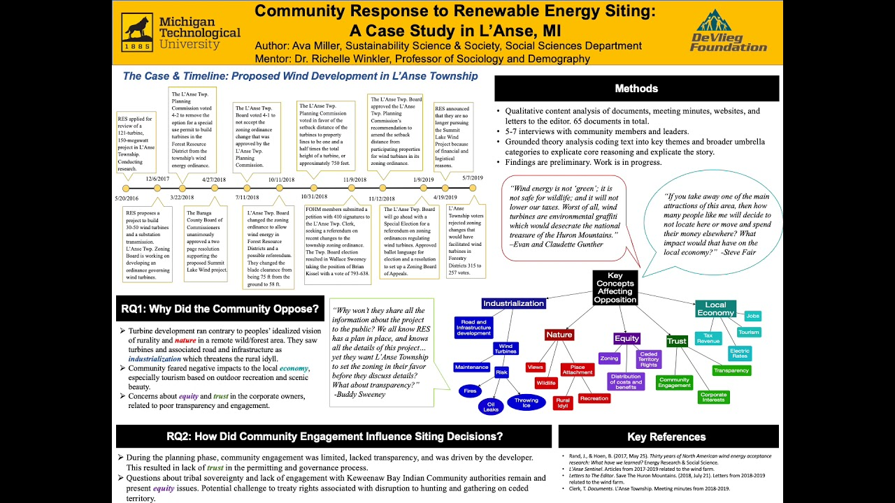Preview image for Community Response to Renewable Energy Project Siting: A Case Study in L'Anse, MI video