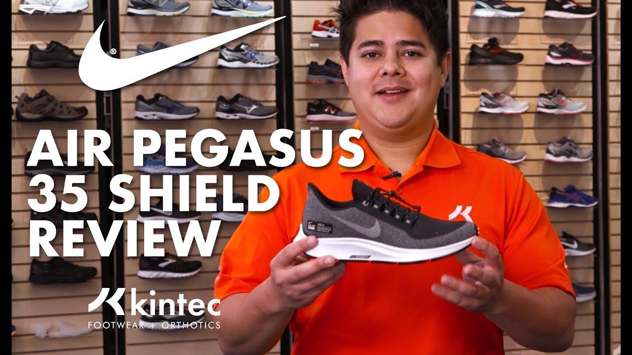 the best attitude 15802 38ca2 Shoe Review: Nike Air Zoom Pegasus 35 Shield   Kintec: Footwear + Orthotics