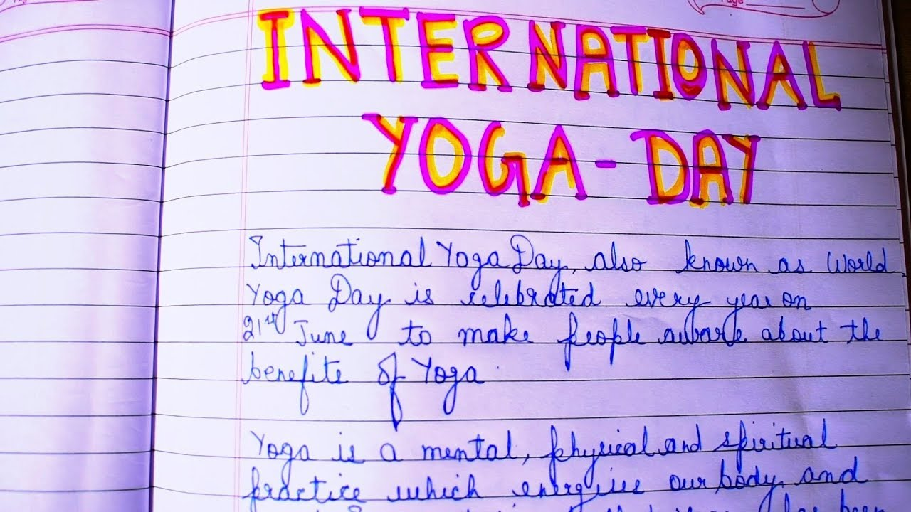 International Yoga Day Essay In English Yogawalls