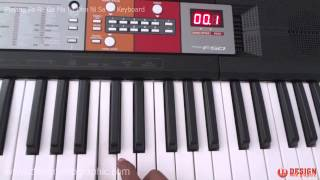 Playing Sa Re Ga Ma Pa Dha Ni Sa Tune on Keyboard Piano Yamaha PSR F50