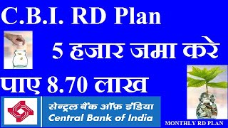 CENTRAL BANK OF INDIA RD PLAN    CENTRAL BANK RD INTEREST RATE 2019 HINDI