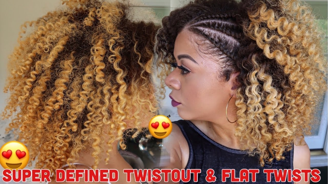 super defined twist out & flat twists curly hair | natural hair