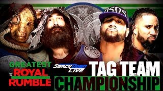 WWE Greatest Royal Rumble: The Bludgeon Brothers vs The Usos (SD Tag Team Championship)