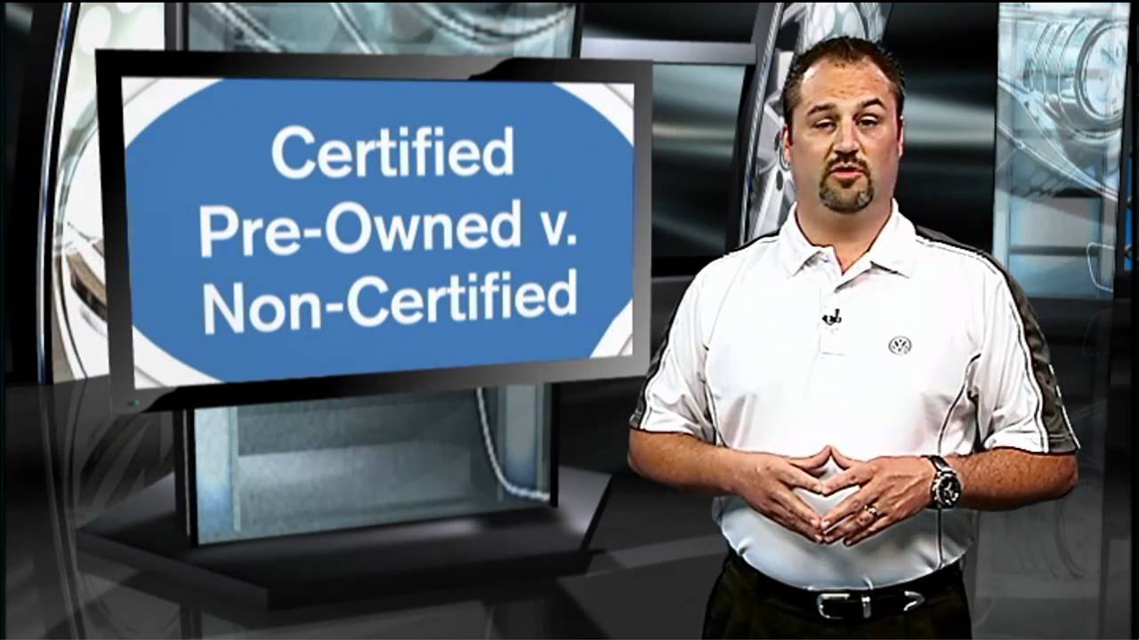what does certified pre owned volkswagen mean vs non certified programs youtube. Black Bedroom Furniture Sets. Home Design Ideas