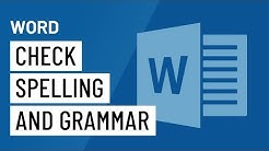 Word 2016: Check Spelling and Grammar