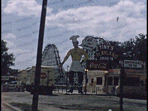 Vintage 1950s-60s 8mm Film Home Movie - USA Road Trip - Towns, Roadside Views