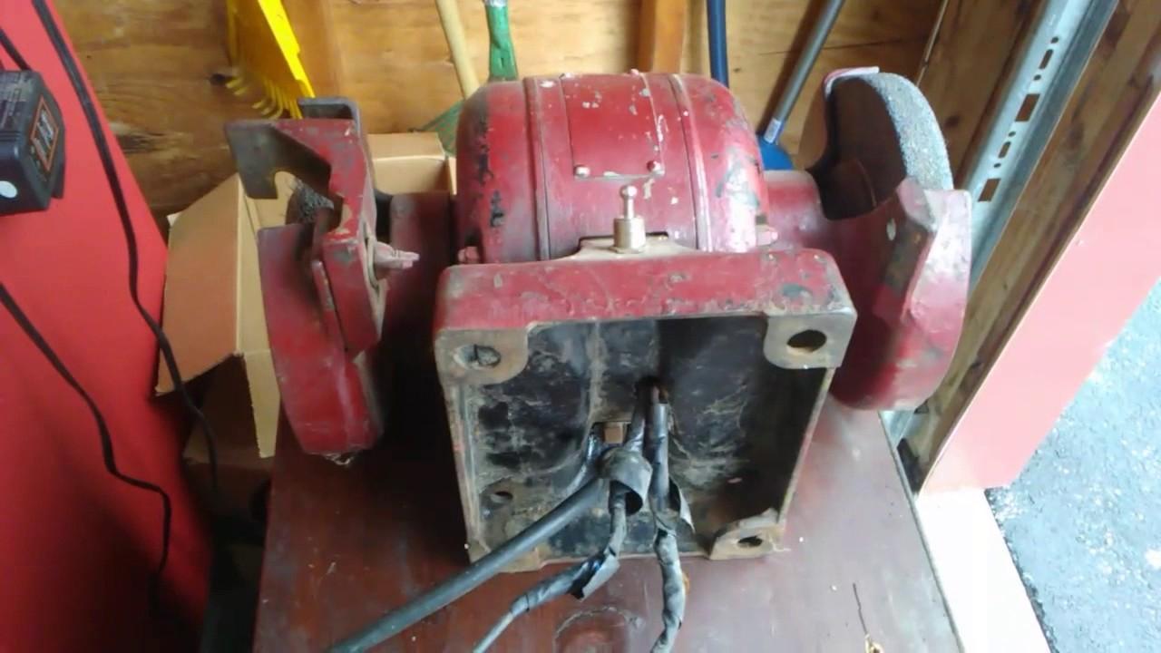 medium resolution of free bench grinder rewired