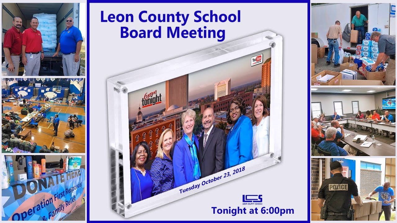 Leon County School Board Meeting - October 23, 2018 - YouTube