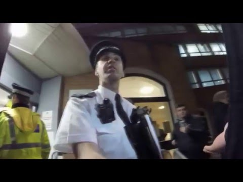 Liverpool City Watch - Mike is responsible for security. Without an SIA licence.