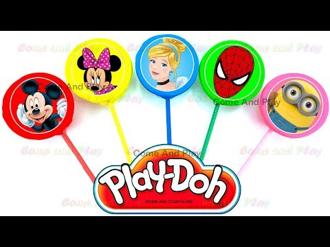 Thumbnail: Learn Colors Number Play Doh Finger Family Nursery Rhymes Lollipops Mickey Minnie Mouse Surprise