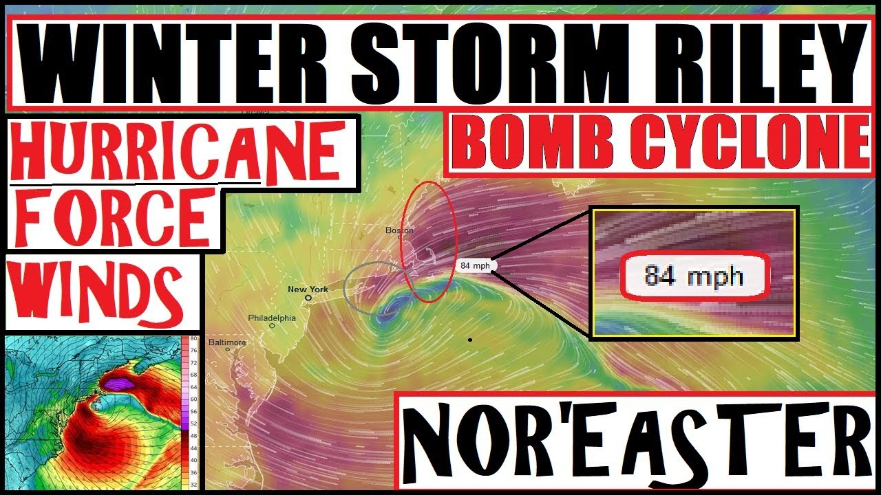 'Bomb Cyclone,' nor'easter and other severe weather will unfold this ...