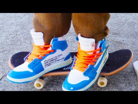 Finger Skateboard | Tech Deck Street Hits Jersey Barrier | Finger Skateboarding | Flick Trix