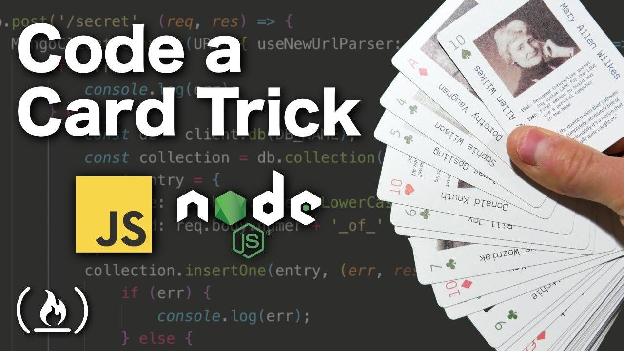 Code a magic card trick using JavaScript & Node.js