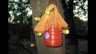 Забавные пчелки своими руками из пластиковых бутылок