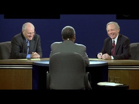 Dick Cheney and Joe Lieberman Vice Presidential Debate 2000