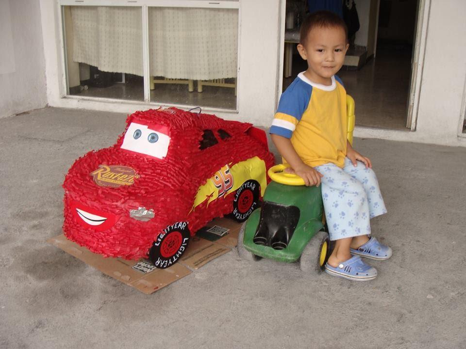Cars To Make >> Piñata del Rayo McQueen de Cars - YouTube
