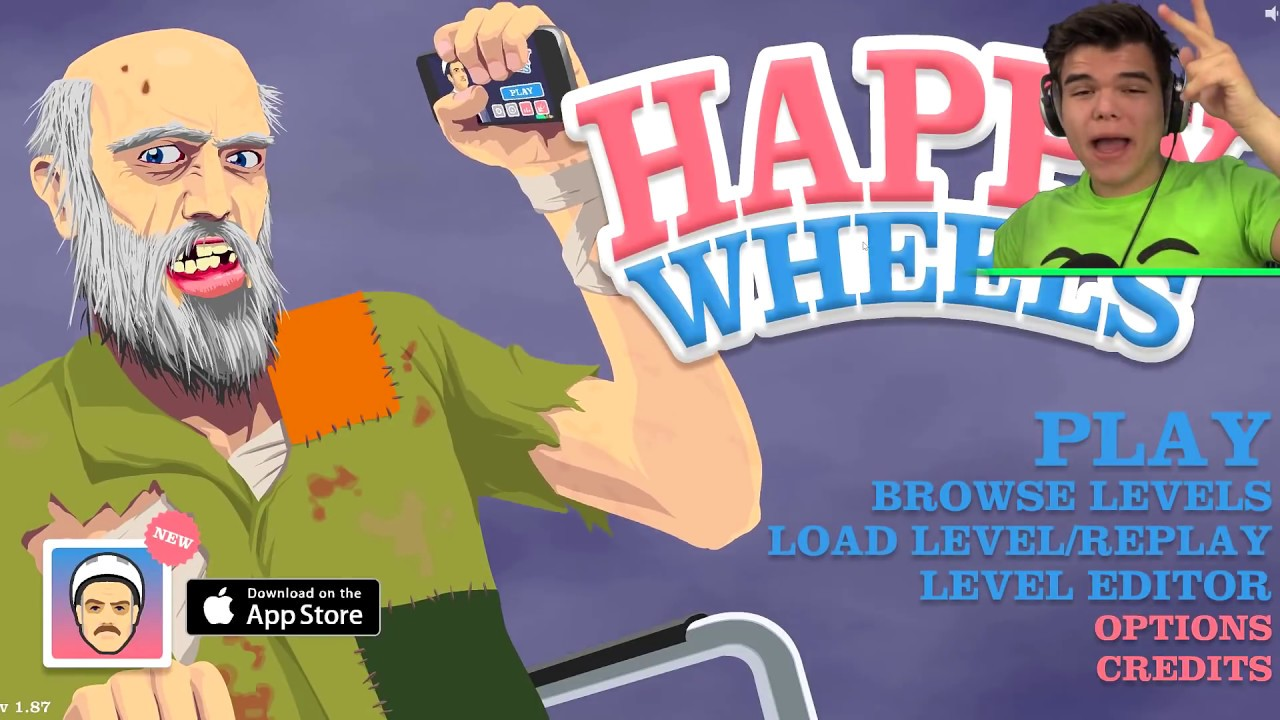 Happy Wheels - BEST LEVEL EVER!!! (SEXY TIME) - YouTube