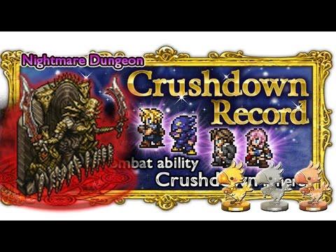 [FFRK] Demon Wall [Nightmare] Playthrough ☆☆☆ | Crushdown Record