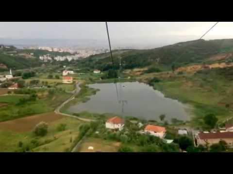 Mount Dajti Teleferik Hyperlapse Tirana, Albania