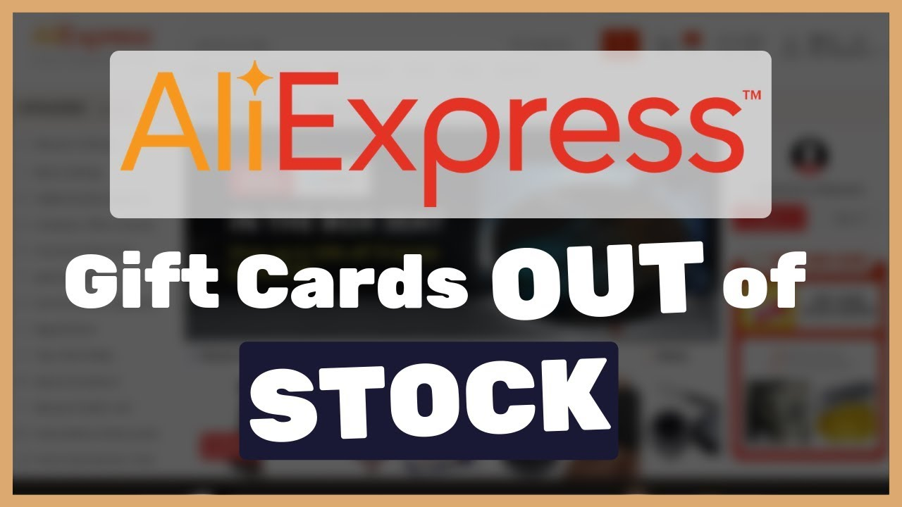 Dropshipping from AliExpress - Aliexpress Pocket gift cards went to out of stock, what to do now?